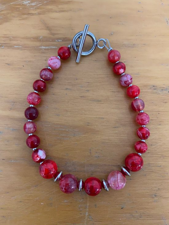 red crackle agate